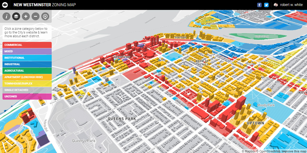 New Westminster Zoning Map rbrtwhite